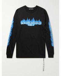 MASTERMIND WORLD Logo-print Cotton-jersey T-shirt - Black