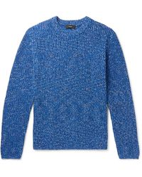 Theory Donegal Cotton Jumper - Blue