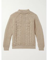 Kingsman Cable-knit Wool And Cashmere-blend Jumper - Multicolour