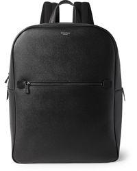 Serapian Pebble-grain Leather Backpack - Black