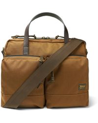 Filson - Dryden Leather-trimmed Nylon Briefcase - Lyst