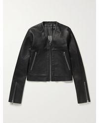 Rick Owens Klaus Slim-fit Leather Jacket - Black
