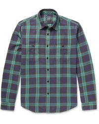 J.Crew | Checked Cotton-flannel Shirt | Lyst
