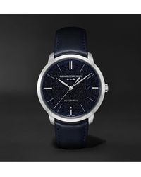 Girard-Perregaux 1966 Orion Automatic 40mm Stainless Steel And Leather Watch - Blue