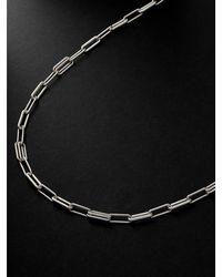Spinelli Kilcollin Elliptical Silver Chain Necklace - Metallic