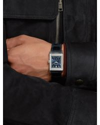 Jaeger-lecoultre Reverso Tribute Hand-wound 27mm Stainless Steel And Leather Watch - Multicolour