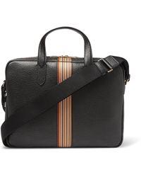 Paul Smith - Portfolio Webbing-trimmed Full-grain Leather Messenger Bag - Lyst