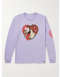 Flagstuff Printed Cotton-jersey T-shirt - Purple