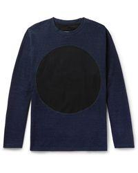 Blue Blue Japan Indigo-dyed Cotton-jersey Sweatshirt - Blue