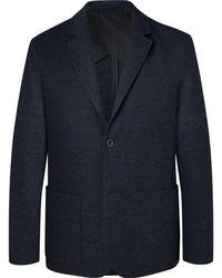 MR P. - Navy Slim-fit Unstructured Virgin Wool-blend Bouclé Suit Jacket - Lyst