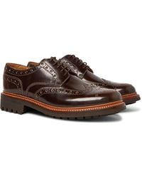 Grenson Archie Leather Wingtip Brogues - Brown