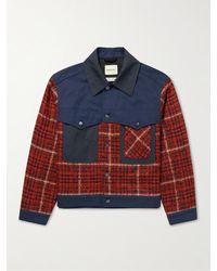 Nicholas Daley Curtis Wool And Mohair-blend Tweed Jacket - Red