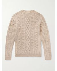 Howlin' By Morrison Supercult Cable-knit Virgin Wool Jumper - Natural