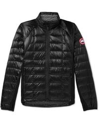 Canada Goose Hybridge Lite Slim-fit Quilted Feather-light 10d Shell And Tensile-tech Down Jacket - Natural