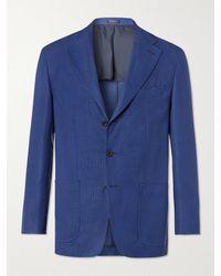 Rubinacci Virgin Wool Blazer - Blue