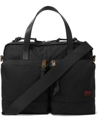 Filson Dryden Leather-trimmed Nylon Briefcase - Black