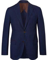 Ermenegildo Zegna - Navy Slim-fit Cotton Suit Jacket - Lyst