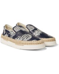 Valentino - Pineapple-print Leather Espadrilles - Lyst