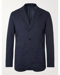 Aspesi Padded Cotton-gabardine Blazer - Blue