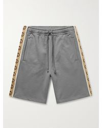 Gucci Webbing-trimmed Cotton-jersey Shorts - Grey