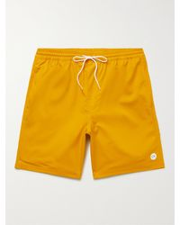 Outerknown Nomadic Volley Logo-print Recycled Twill Drawstring Shorts - Yellow