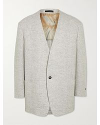 Fear Of God Everyday Unstructured Donegal Wool Blazer - Grey