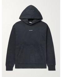 Acne Studios Franklin Oversized Logo-print Fleece-back Cotton-jersey Hoodie - Black