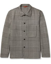 Barena Prince Of Wales Checked Wool-blend Overshirt - Multicolour