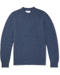 Albam Shetland Wool Jumper - Blue
