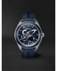 Ulysse Nardin Freak X Automatic 43mm Titanium And Leather Watch - Blue