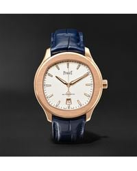 Piaget Polo S Automatic 42mm 18-karat Rose Gold And Alligator Watch, Ref. No. G0a43010 - White