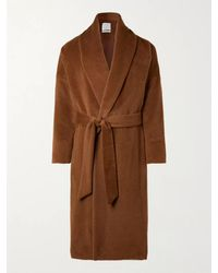 Deveaux Belted Alpaca And Wool-blend Coat - Brown