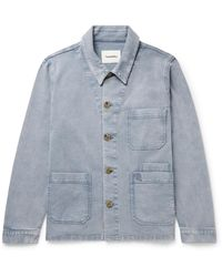 Nanushka Theo Stretch-cotton Twill Chore Jacket - Blue