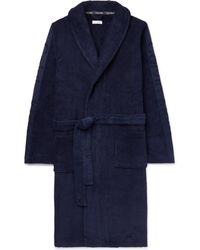 Calvin Klein - Logo-jacquard Cotton-terry Hooded Robe - Lyst