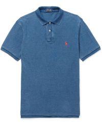 Polo Ralph Lauren - Slim-fit Washed Cotton-piqué Polo Shirt - Lyst