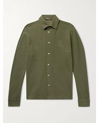 Loro Piana Cotton-piqué Shirt - Green