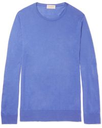 John Smedley - Theon Slim-fit Sea Island Cotton And Cashmere-blend Jumper - Lyst