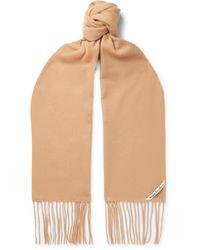 Acne Studios Canada Skinny Fringed Wool Scarf - Multicolour
