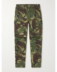 Polo Ralph Lauren Camouflage-print Cotton-blend Twill Cargo Trousers - Green