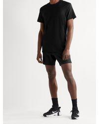 Ten Thousand Versatile Melangé Stretch-jersey T-shirt - Black