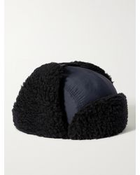 A Kind Of Guise Khoni Virgin Wool-blend And Faux Shearling Trapper Hat - Blue