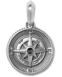 David Yurman Maritime Compass Sterling Silver And Diamond Pendant - Metallic