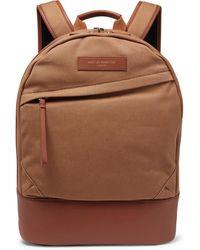 Want Les Essentiels De La Vie Kastrup Leather-trimmed Shell Backpack - Brown