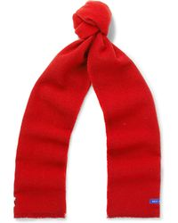 Best Made Company - Fringed Colour-block Wool Scarf - Lyst