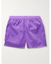 Acne Studios Warrick Mid-length Swim Shorts - Purple