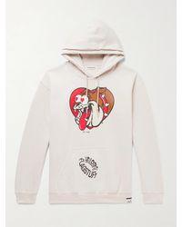 Flagstuff Printed Fleece-back Cotton-blend Jersey Hoodie - Multicolour