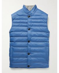 Peter Millar Reversible Quilted Shell And Wool Gilet - Blue