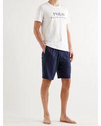 Polo Ralph Lauren Logo-print Cotton-jersey Pyjama T-shirt - White