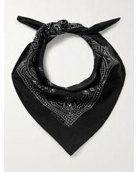Givenchy Paisley-print Cotton-voile Bandanna - Black