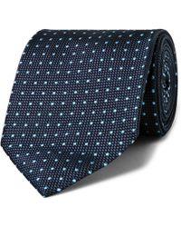 Ermenegildo Zegna - 7.5cm Polka-dot Silk-jacquard Tie - Lyst
